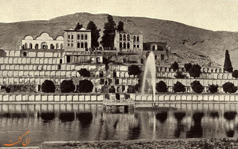 تصاویر قدیمی از باغ تخت شیراز