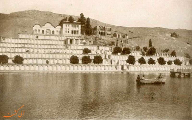 تصاویری از دوره ی حکومت پهلوی از باغ تخت شیراز