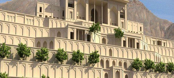 نمای بازسازی شده باغ تخت شیراز
