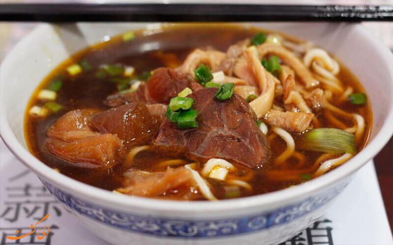 سوپ نودل گوشت