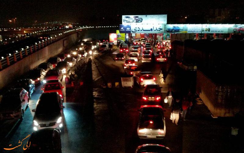 ترافیک تهران بعد از زمین لرزه 20 آذر