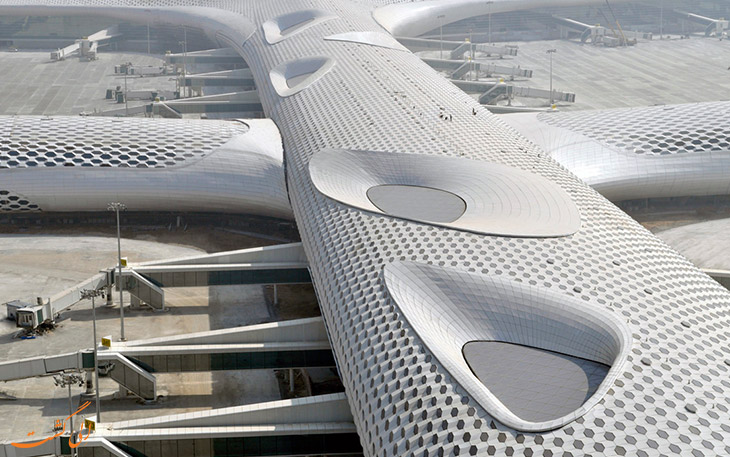 معماری خاص فرودگاه شنزن بن