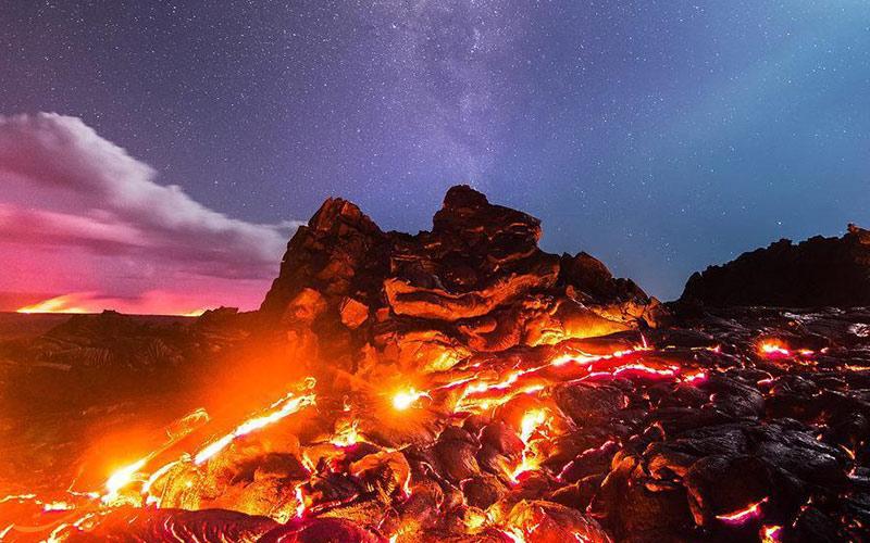 آتشفشان هایی که در سال های اخیر فعال بودند