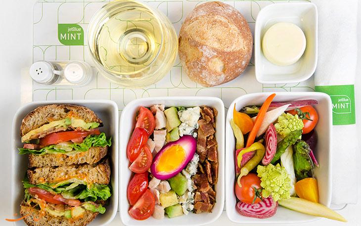 غذای هواپیمایی جت بلو