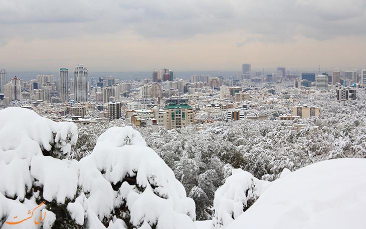 گردشگری تهران با بارش برف