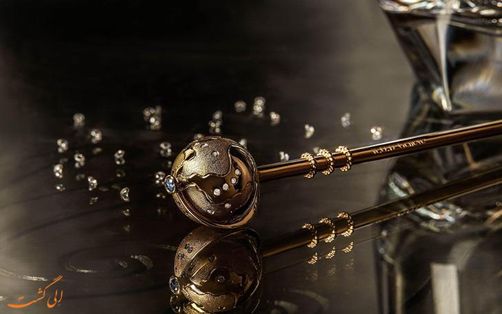 نی ساخته شده از طلا و الماس
