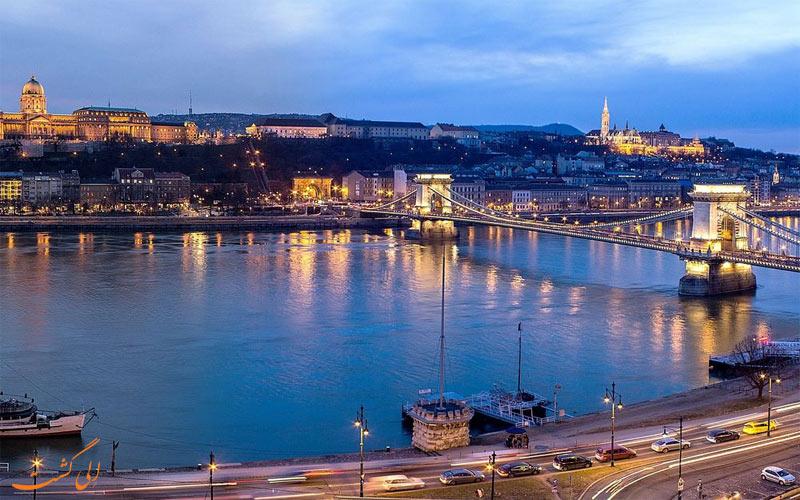 هتل اینترکنتینانتال بوداپست - پل چین از پنجره هتل