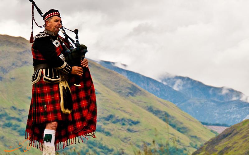 پوشش محلی مردم اسکاتلند