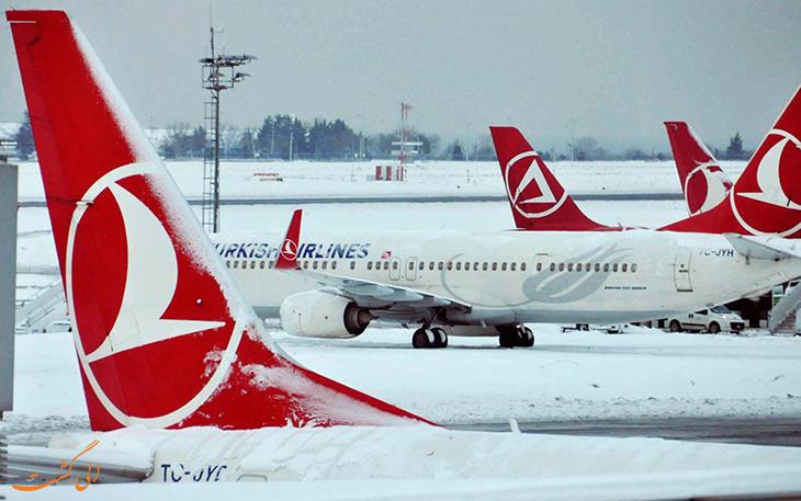 فرود در برف هواپیما
