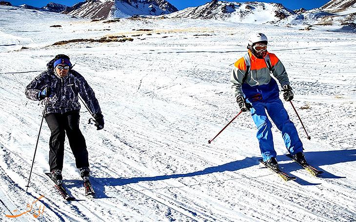 مسابقات اسکی در جشنواره سرعین