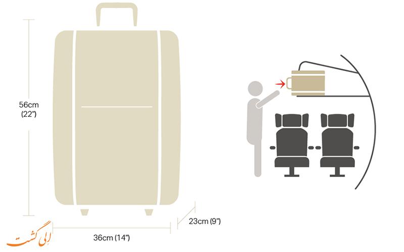 حمل چمدان در هواپیما