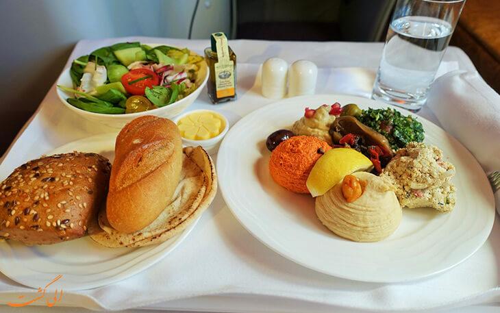 غذای هواپیمایی امارات