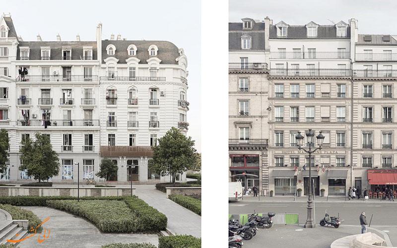مقایسه بناهای چین و پاریس