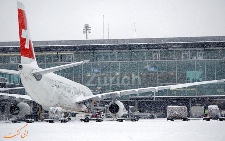 امکان فرود در برف