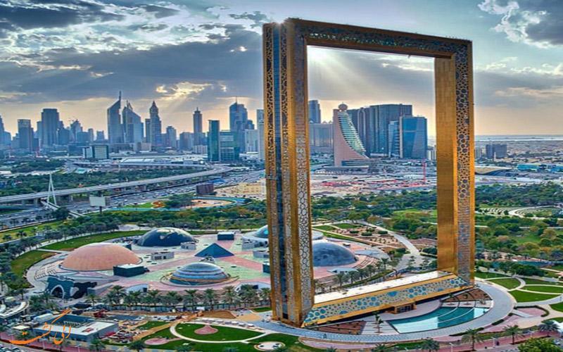 برج قاب عکس طلایی در دبی