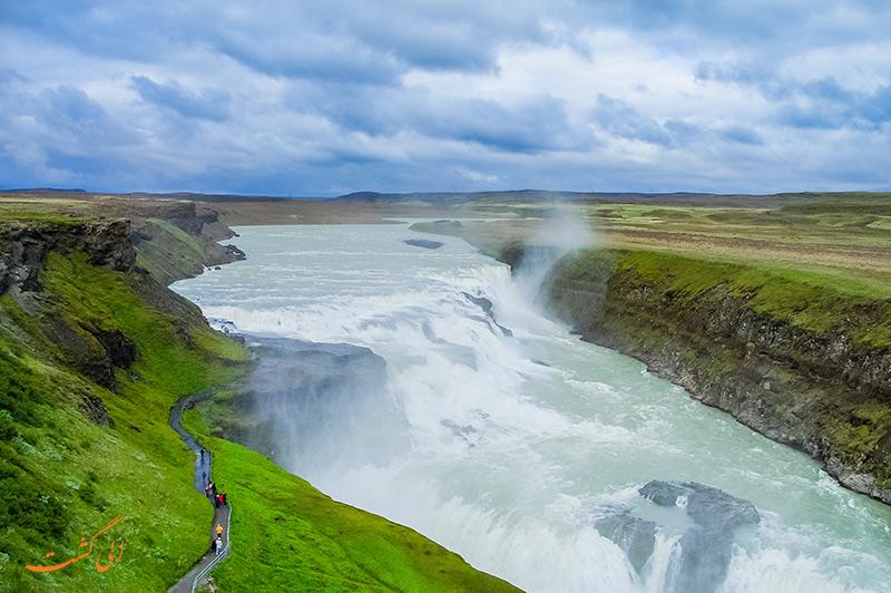 Gullfoss در ایسلند