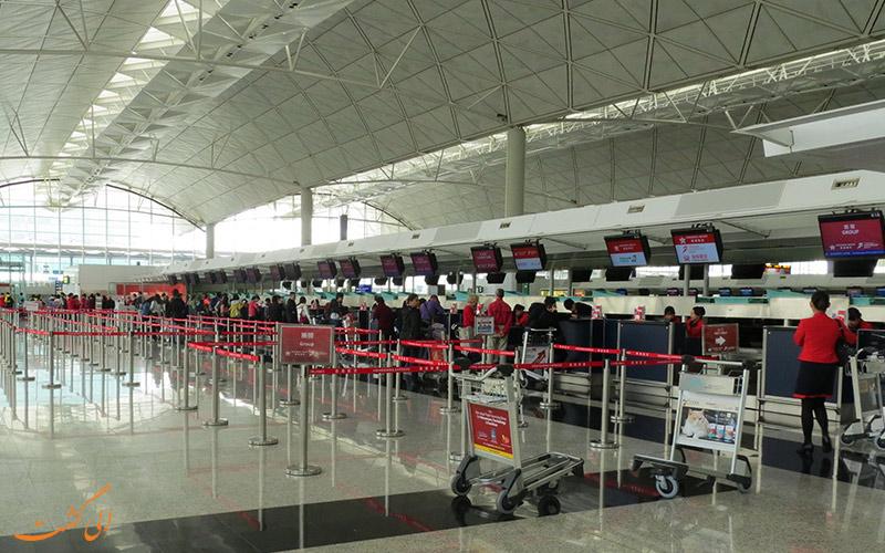 گیت مسافرین فرودگاه هنگ کنگ