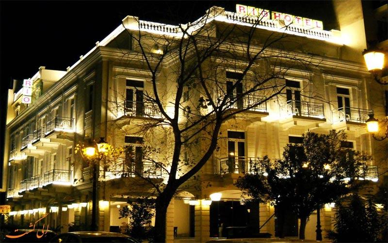Hotel Rio Athens- eligasht.com نمای شب هتل