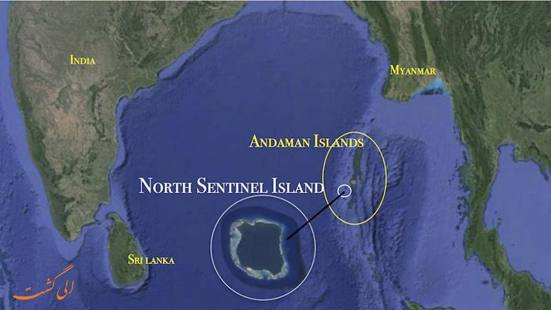 نقشه جزیره North Sentinel