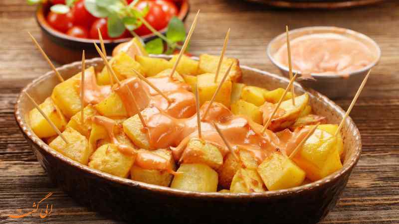 غذای Patatas Bravas