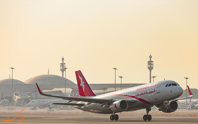 پروازهای فرودگاه شارجه امارات