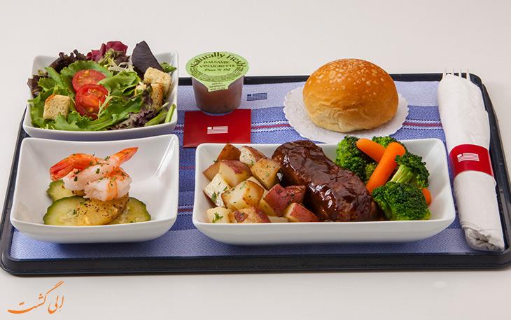 غذا در پروازهای طولانی