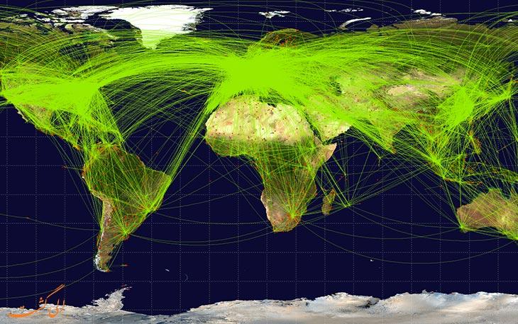 ترافیک هوایی جهانی