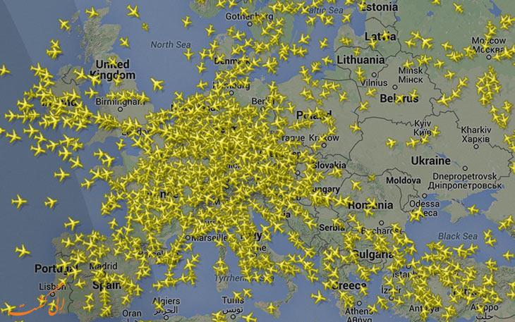 برنامه مشاهده آنلاین هواپیماهای در حال پرواز