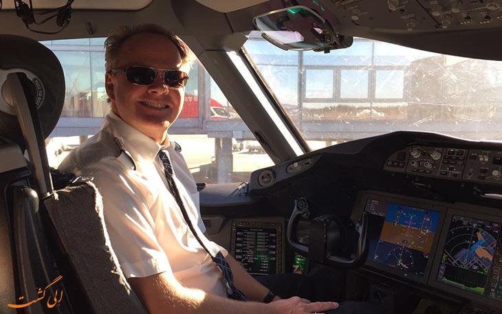 رکورد هواپیمای نروژی پرواز نیویورک به لندن