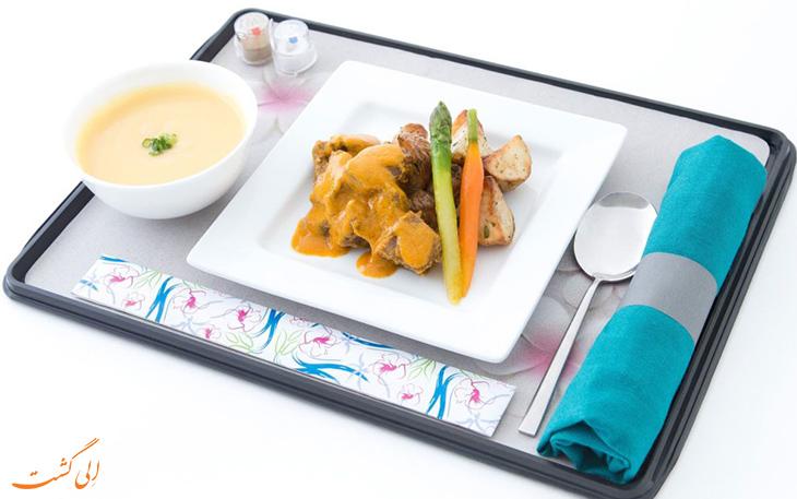 غذای هواپیمایی هاوایین ایرلاینز