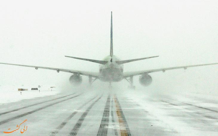 خطرات فرود در برف