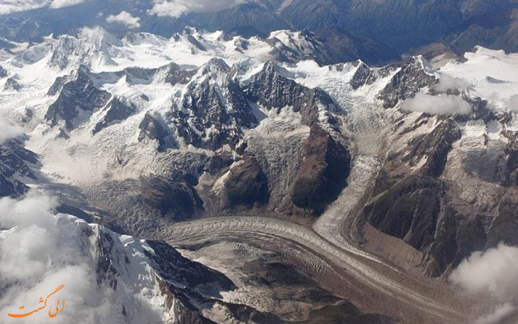 پرواز هواپیما بر فراز تبت