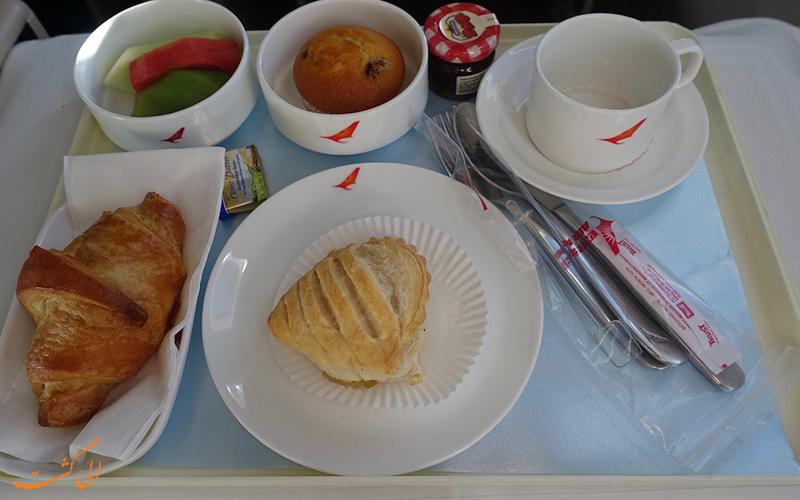 نمونه ای از غذاهای ایر ایندیا