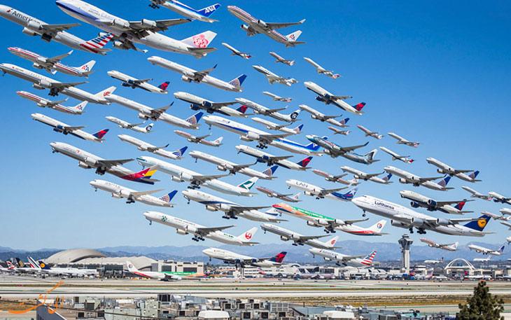 بیشترین ترافیک هوایی
