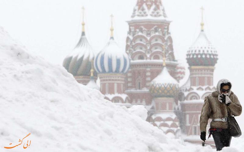 سردی بی سابقه ی هوا در روسیه