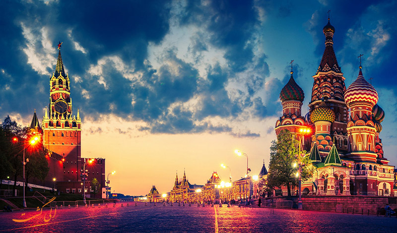 کاخ کرملین و میدان سرخ مسکو