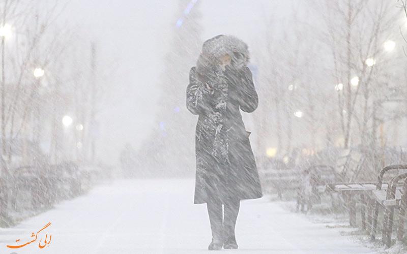 سرمای شدید هوا در روسیه
