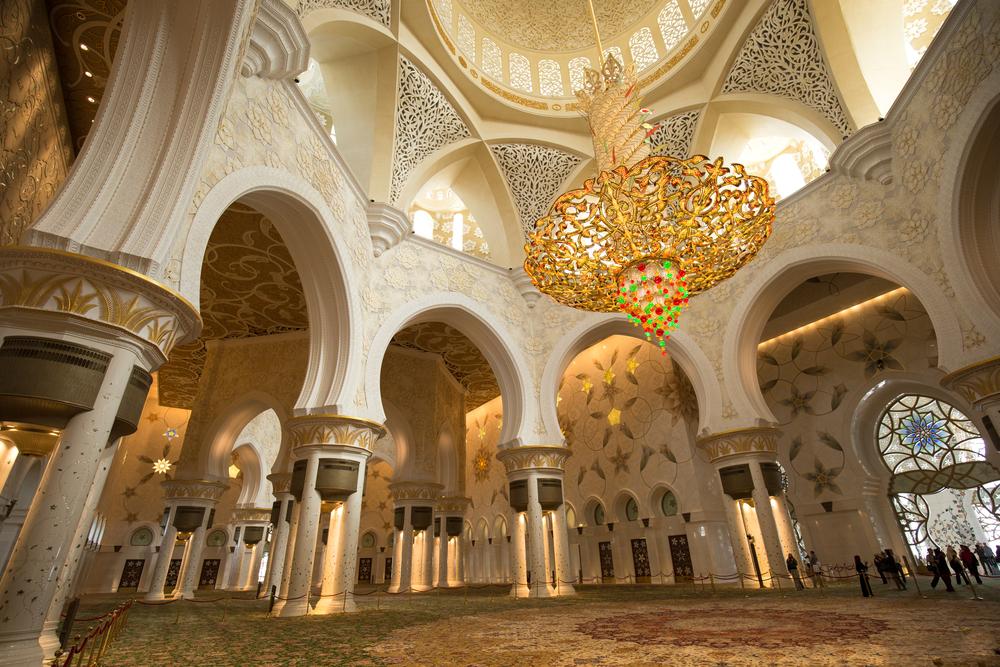 داخل مسجد شیخ زاید