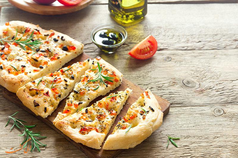 نان های معروف دنیا | فوکاسیا