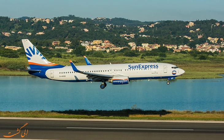 معرفی شرکت هواپیمایی سان اکسپرس