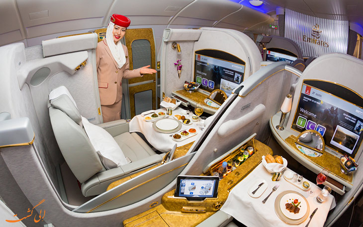 غذای هواپیمایی امارات-مهماندار هواپیما