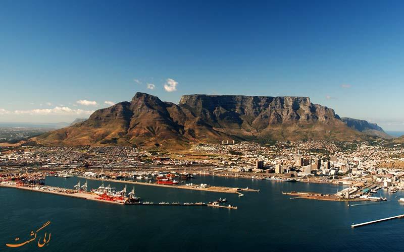 کوه میز در آفریقا جنوبی