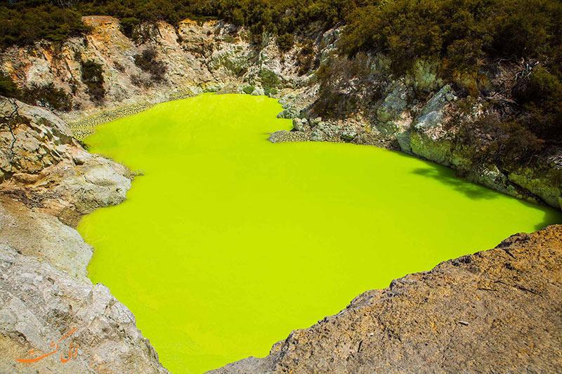 عکس های دریاچه سمی نیوزلند