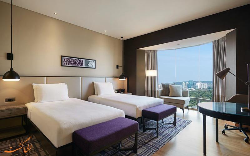 هتل هیلتون کوالالامپور | نمونه اتاق تویین