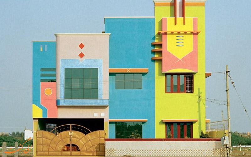 خانه های رنگارنگ