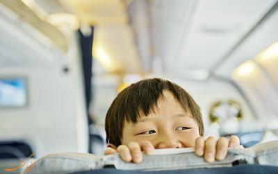 کودکان در فرست کلاس هواپیما