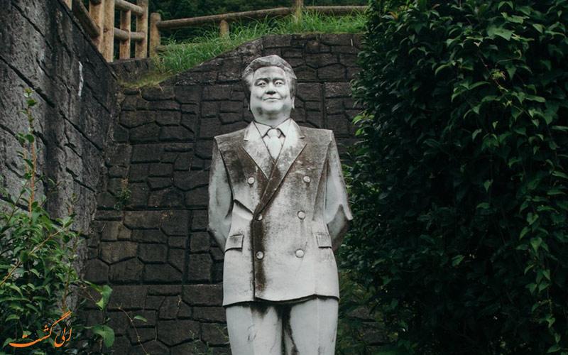 مجسمه های سنگی جنگل ژاپن