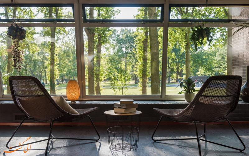 امکانات تفریحی هتل تروپن آمستردام- نمای باغ