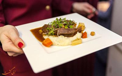 غذای هواپیمایی قطر ایرویز