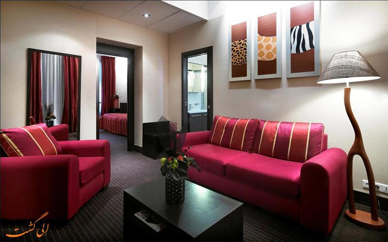Hotel Gounod Nice- eligasht.com فضای نشیمن سوئیت